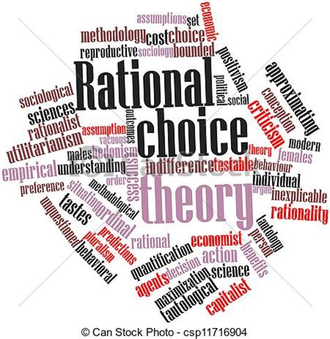 Stock Illustration of Rational choice theory - Abstract