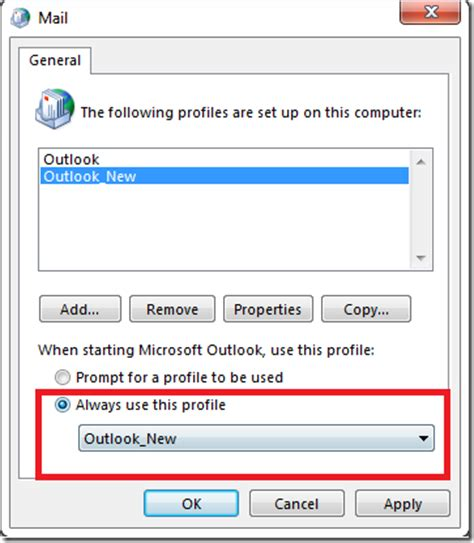 How to Create a new Outlook Profile in Windows 7 – Outlook