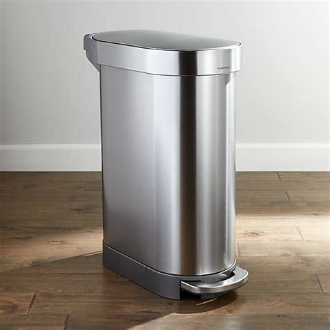 simplehuman 45-Liter Slim Trash Can + Reviews   Crate and