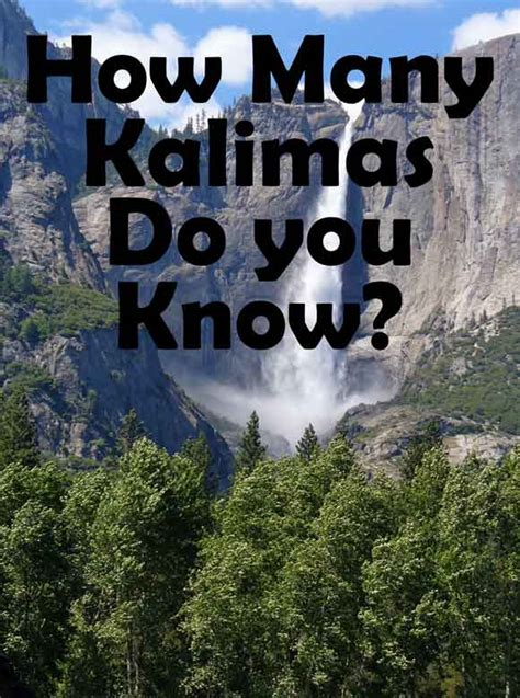 Learn The Six Kalimas in Islam - How many do you know?