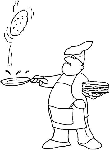 Pancake coloring page | Free Printable Coloring Pages