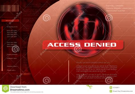 Access Denied Computer Screen Stock Image - Image: 12742871