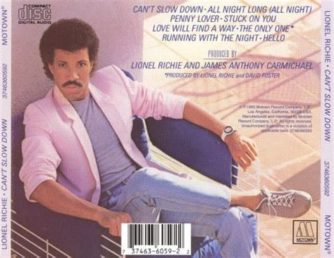 Can't Slow Down - Lionel Richie | Songs, Reviews, Credits