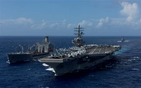 US Navy strike group led by aircraft carrier USS Ronald