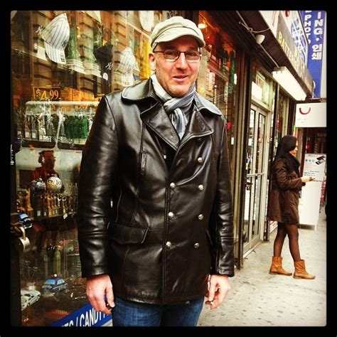 Schott on the Street: Our 650 military leather Peacoat in