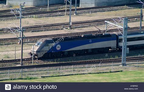 Le Shuttle Eurotunnel locomotive on the English side of