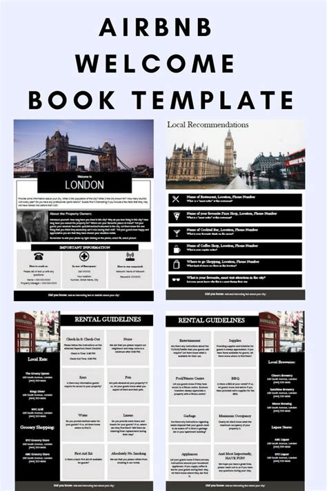 LONDON - Welcome Book - England - Guest Book - Airbnb