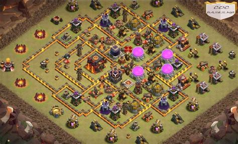 11 Best TH10 Base Links 2021 - TH10 Layout Designs Anti