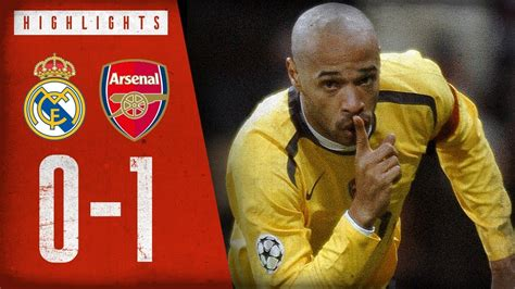 HENRY ON FIRE!   Real Madrid 0-1 Arsenal   Champions